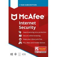 McAfee Internet Security 1 Device 1 Year Key